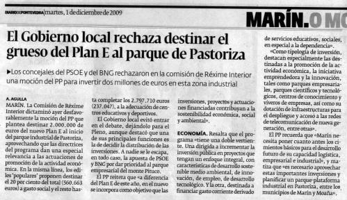 Diario de Pontevedra, 1 de xaneiro de 2009