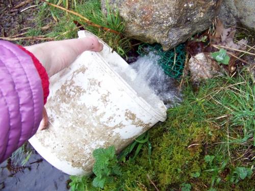 ...E pouquiño de auga do manancial da Fontenla.