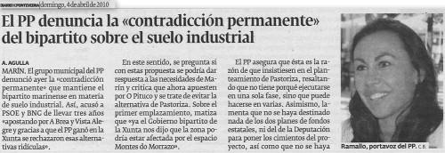 Diario de Pontevedra, 4 de abril de 2010