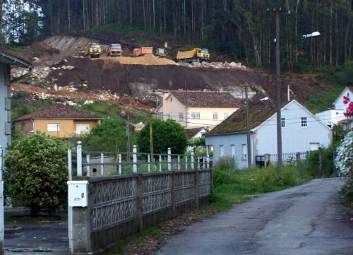 Obras da Variante de Marín no seu tramo final, no lugar de Gandarela, preto de Ence