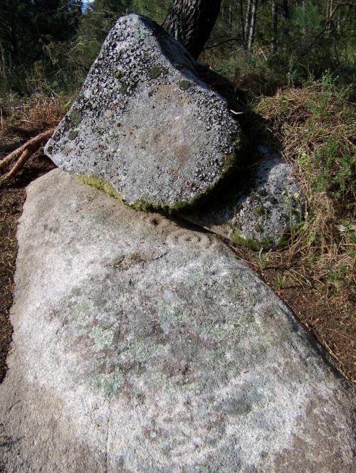 Petroglifos da Carrasca, en San Xulián (Marín).