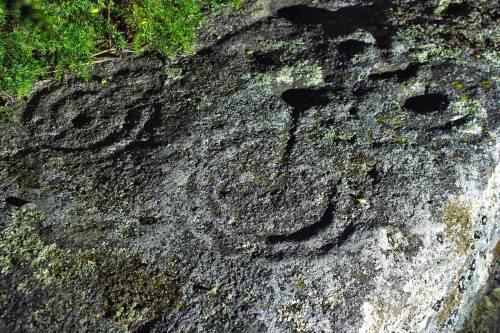 Petroglifo catalogado de Pinal de Caeiro. (Foto, Juan Carlos Epifanio).