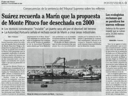 Faro de Vigo, 18 de novembro de 2009.