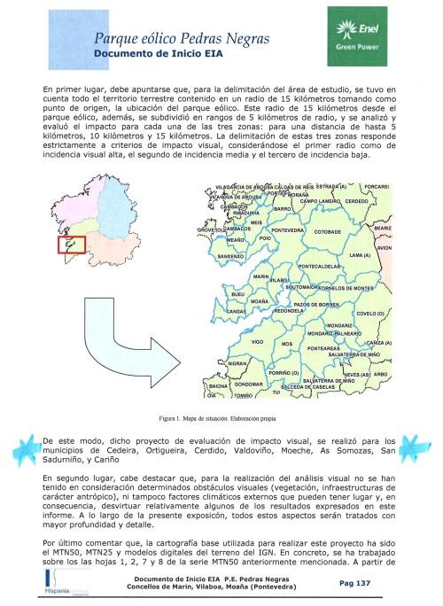 Proxecto do parque eólico en Pedras Negras.