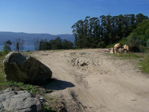 Recheo na parte de arriba da Variante á altura da área de descanso na estrada de Fiigueirido.