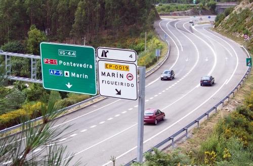 Variante de Marín á altura do Monte Pornedo.