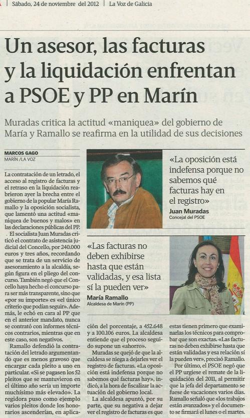 La Voz, 24 de novembro de 2012.