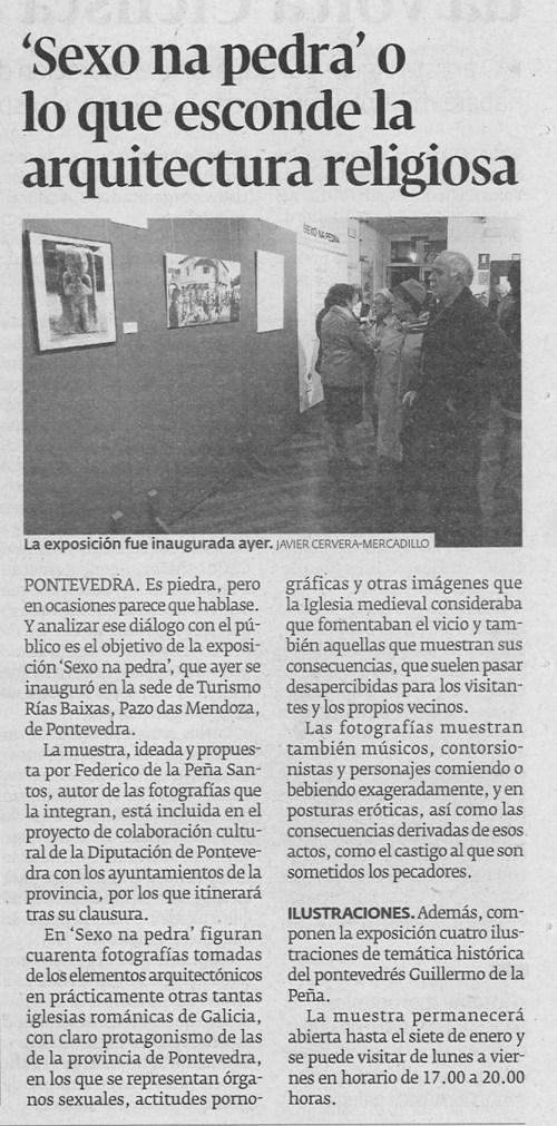 Diario de Pontevedra, 22 de decembro de 2012.