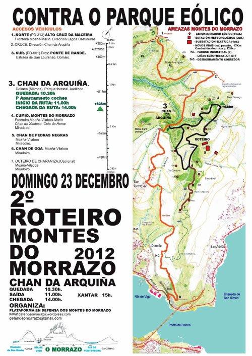 Roteiro contra o proxecto do parque eólico de Pedras Negras, domingo 23 de decembro.
