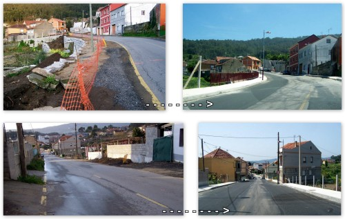 A evolución nas obras de reforma da estrada de San Xulián.