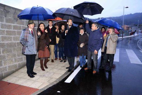 Na inauguración das obras de reforma da estrada de San Xulián.