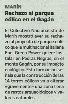 La Voz, 30 de novembro de 2012.