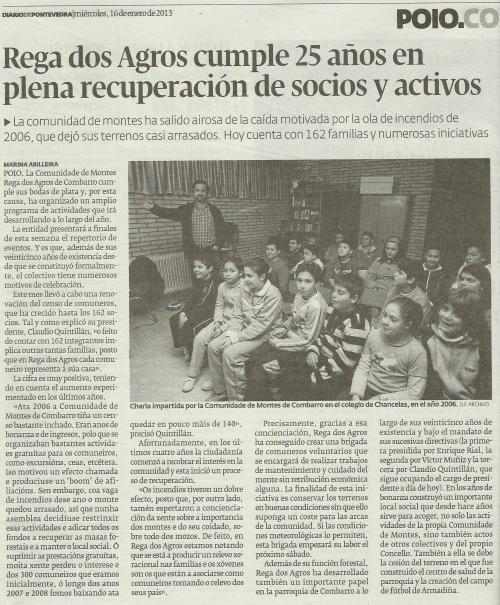 Diario de Pontevedra, 13 de xaneiro de 2013.
