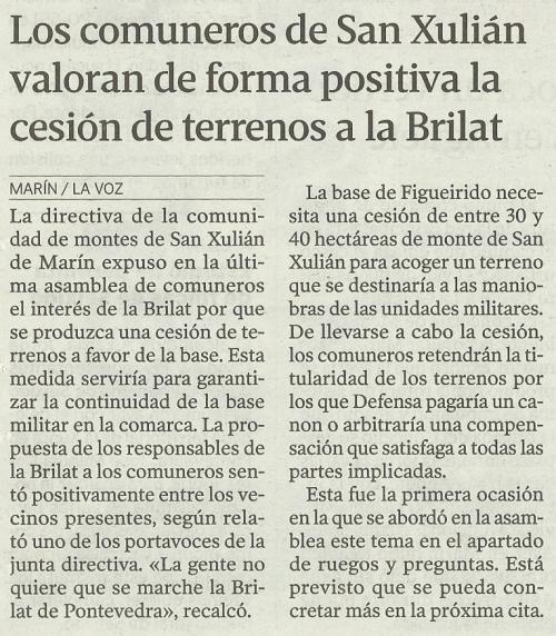 La Voz de Galicia, 17 de xaneiro de 2013.