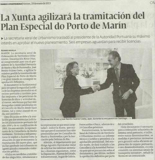 Diario de Pontevedra, 25 de xaneiro de 2013.