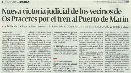 Diario de Pontevedra, 16 de xaneiro de 2013.