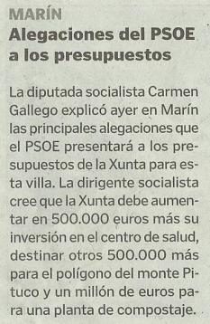 La Voz de Galicia, 2 de febreiro de 2013.