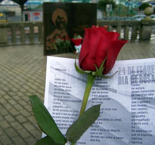 Día de Rosalía, organizado por Queremos Galego Marín.