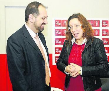 Francisco Veiga e Carmen Gallego (Foto, Noé Parga, Faro de Vigo).