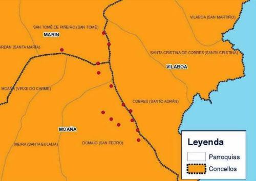 Afeccións do proxecto de parque eólico de Pedras Negras (fonte: Morrazo 20 20).