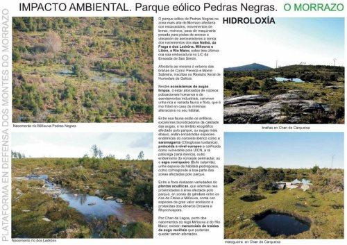 Afeccións do proxecto de Pedras Negras (fonte: Morrazo 20 20).