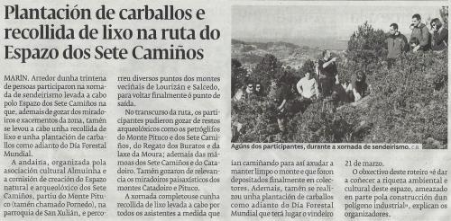 Diario de Pontevedra, 19 de marzo de 2013.