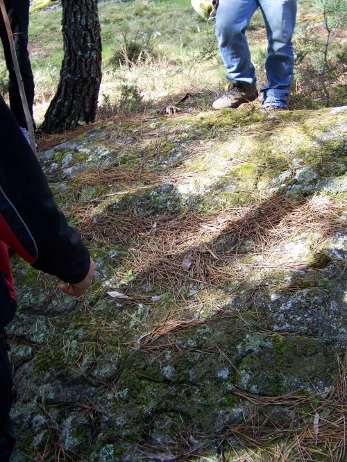 Tamén reparamos nos petroglifos modernos de Pepito Meijón.