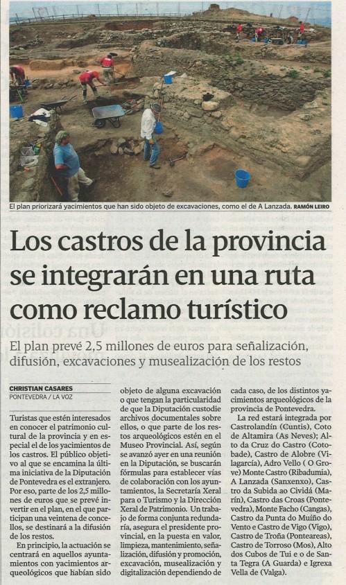 20 de decembro de 2012, La Voz de Galicia.