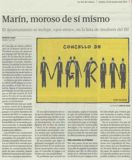 La Voz de Galicia, 21 de marzo de 2013.