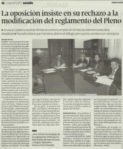 Diario de Pontevedra, 22 de marzo de 2013.