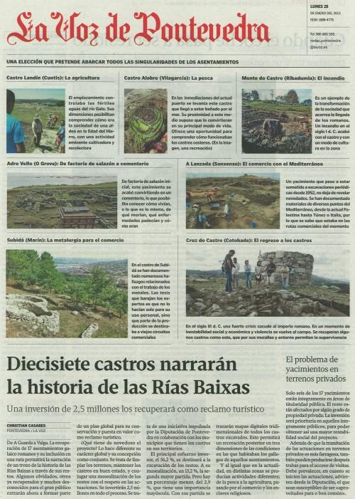 La Voz de Galicia, 28 de xaneiro de 2013.