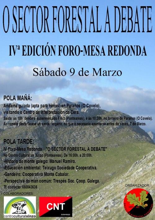O sector forestal a debate. 9 de marzo en O Covelo.