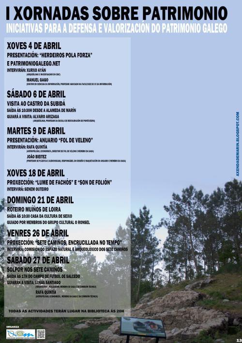 I Xornadas para a Defensa e Valorización do Patrimonio de Queremos Galego Marín.