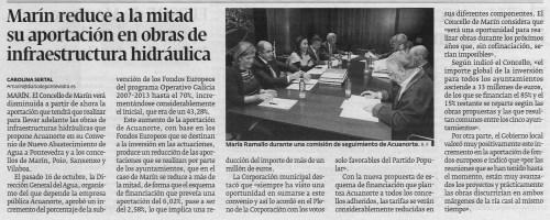 Diario de Pontevedra, 2 de decembro de 2012.