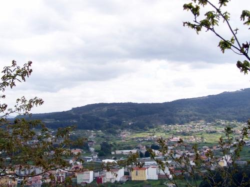 Vista do Monte Pornedo dende o castro Subidá.