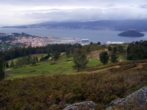 Vista do Monte Pornedo e da ría.