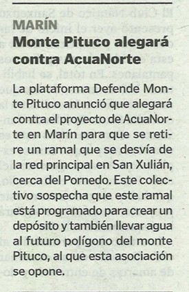 La Voz de Galicia, 18 de abril de 2013.