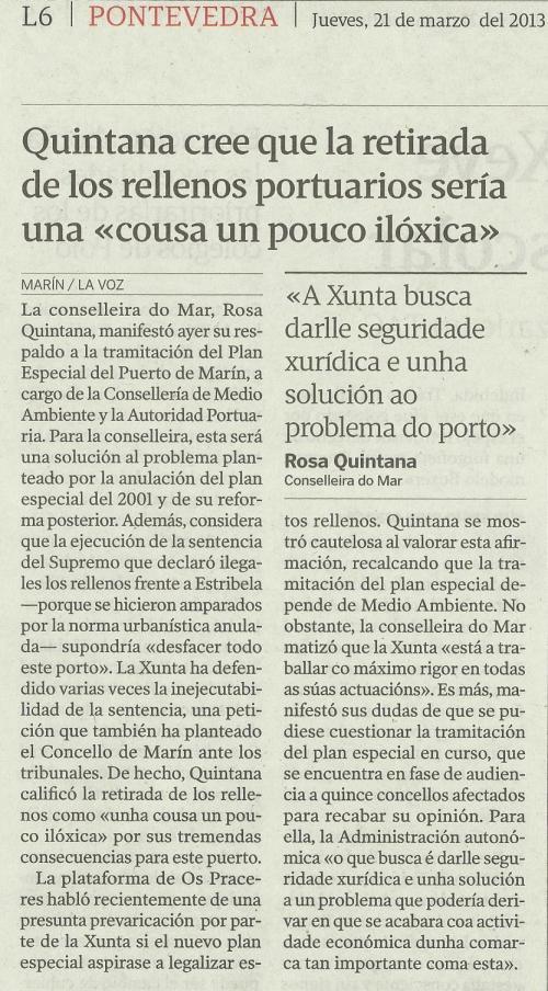 La Voz de Galicia, 21 de marzo de 2013.os puerto