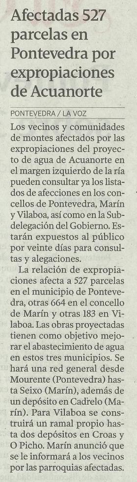La Voz de Galicia, 22 de marzo de 2013.