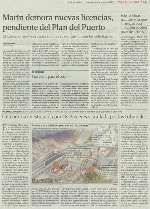 La Voz de Galicia, 24 de marzo de 2013.