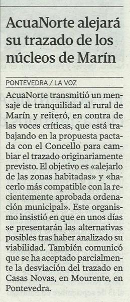 La Voz de Galicia, 25 de abril de 2013.