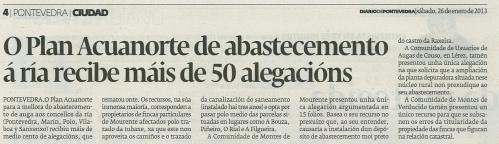 Diario de Pontevedra, 26 de xaneiro.