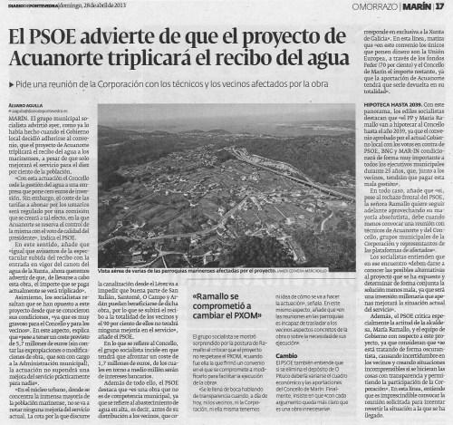 Diario, 28 de abril de 2013.