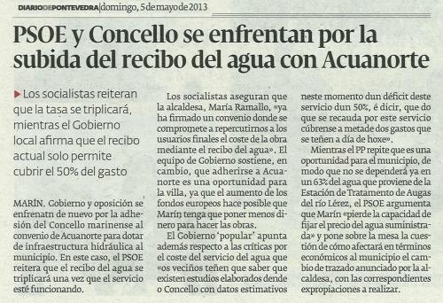 Diario, 5 de maio de 2013.