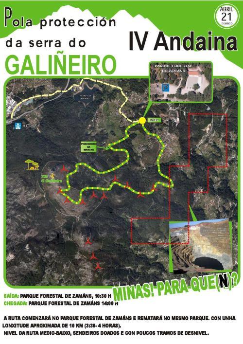 Andaina pola protección da Serra do Galiñeiro.