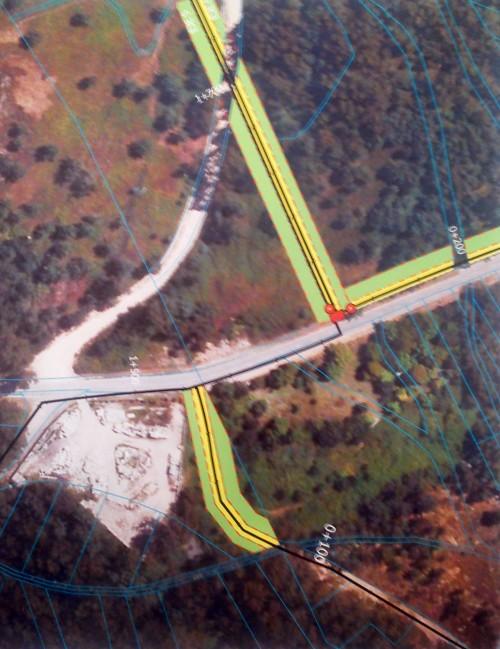 Planos de Acuanorte coa tubería orientada ao Monte Pituco.