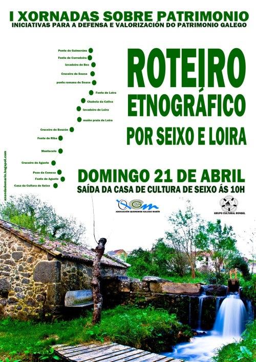 Roteiro etnográfico por Seixo e Loira, organizado por Queremos Galego Marín.