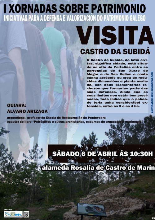 Visita ao Castro da Subidá, con Álvaro Arizaga, organizada por Queremos Galego Marín.