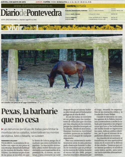 Diario de Pontevedra, 2 de maio de 2013.