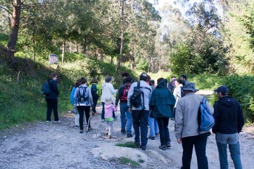 O grupo de sendeirismo do Colexio de Avogados de Pontevedra visitou o Espazo Natural e Arqueolóxico dos Sete Camiños. (Foto: Fran Currás).